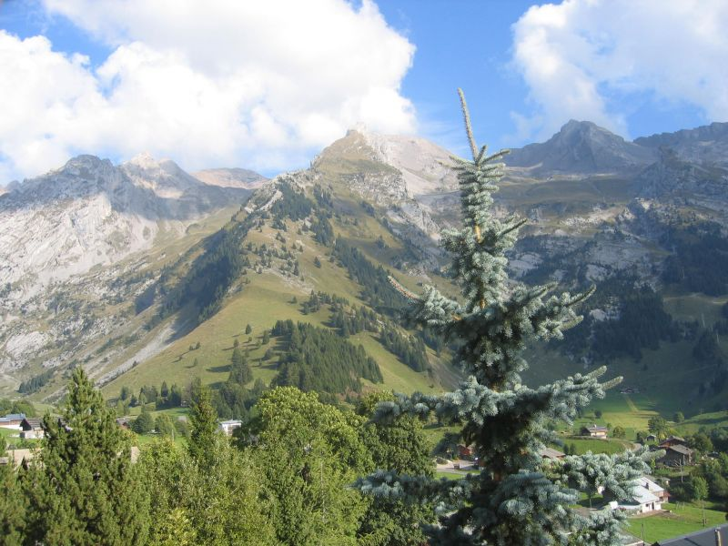 Vue depuis la location Location Chalet 112531 La Clusaz