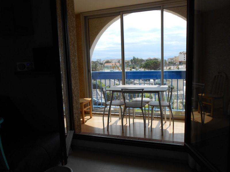 Vue du balcon Location Appartement 114118 Le Barcares