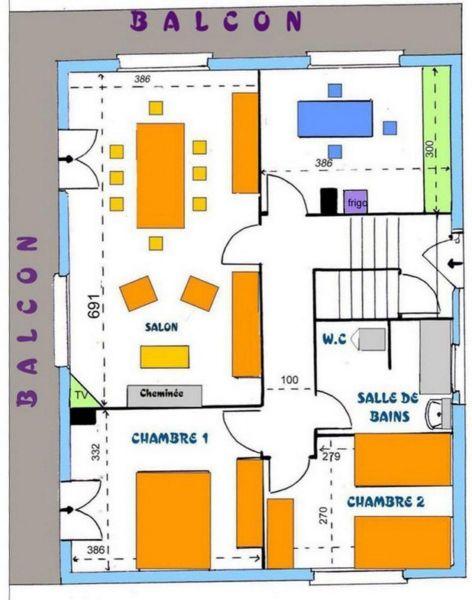 Plan de la location Location Chalet 114932 Gérardmer