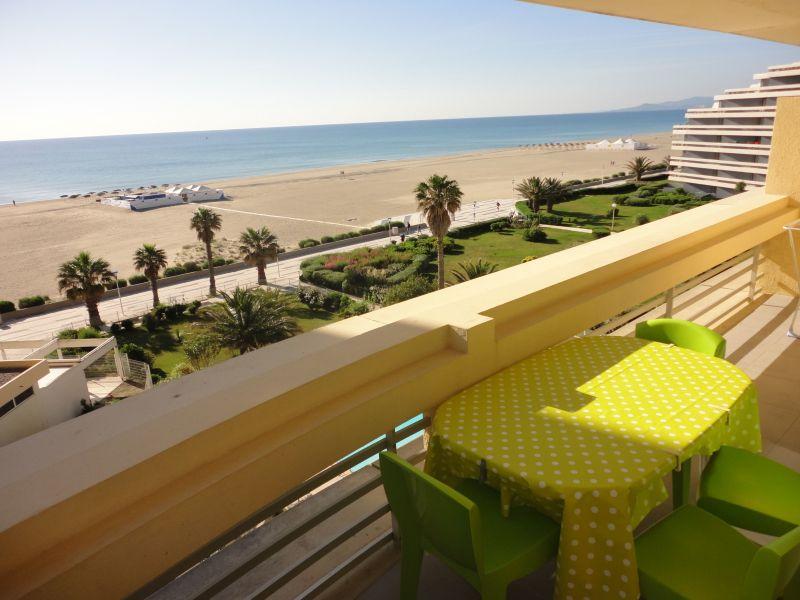Vue de la terrasse Location Appartement 118033 Canet
