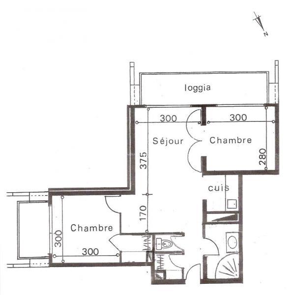 Plan de la location Location Appartement 80072 Le Corbier