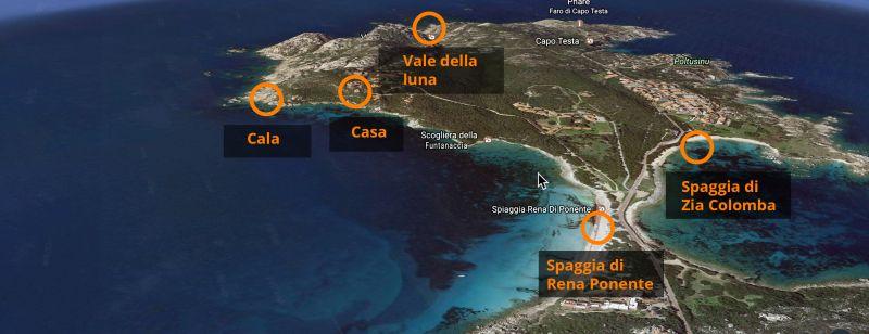 Carte Location Villa 90063 Santa Teresa di Gallura