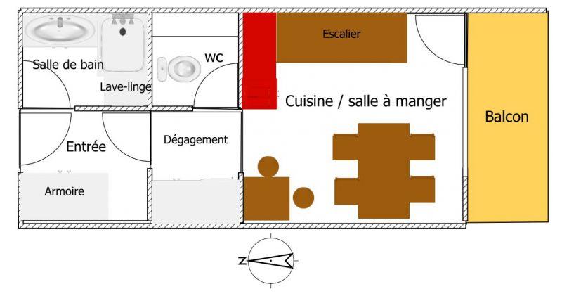 Plan de la location Location Appartement 96964 Bourg saint Maurice