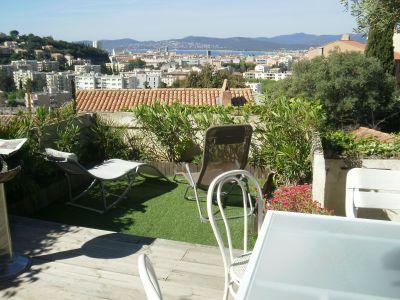 Vue de la terrasse Location Maison 102340 Saint Raphael
