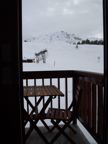Vue de la terrasse Location Studio 106820 La Plagne