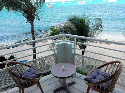 Vue de la terrasse Location Studio 108499 Marigot