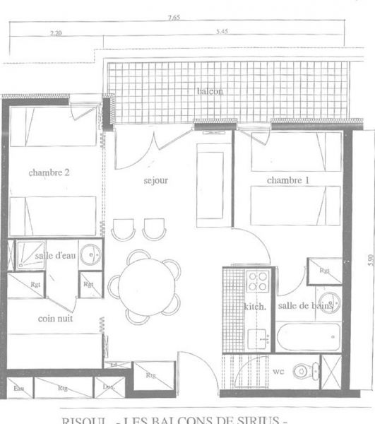 Plan de la location Location Appartement 112131 Risoul 1850