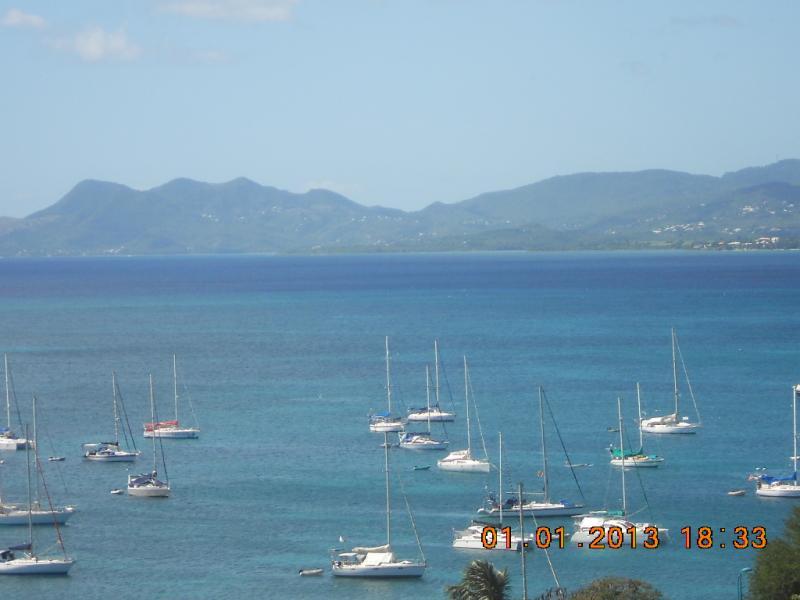 Vue du balcon Location Appartement 67787 Sainte Anne (Martinique)