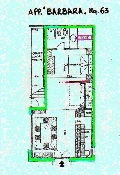 Plan de la location Location Appartement 69989 Nice