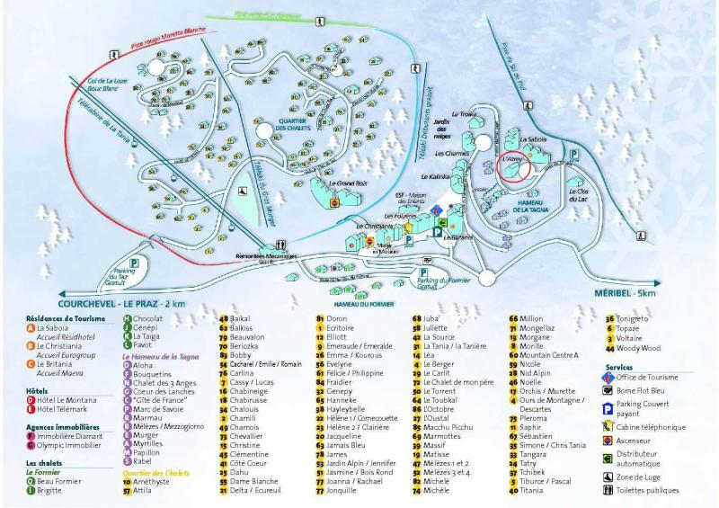 Plan de la location Location Appartement 73449 La Tania