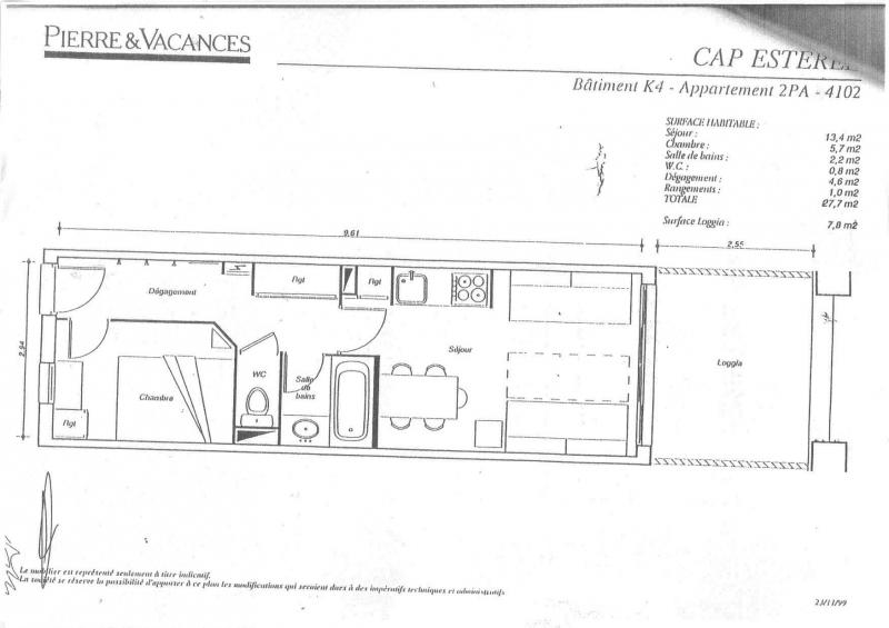 Plan de la location Location Appartement 74977 Agay
