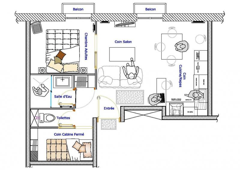 Plan de la location Location Appartement 76998 Cauterets