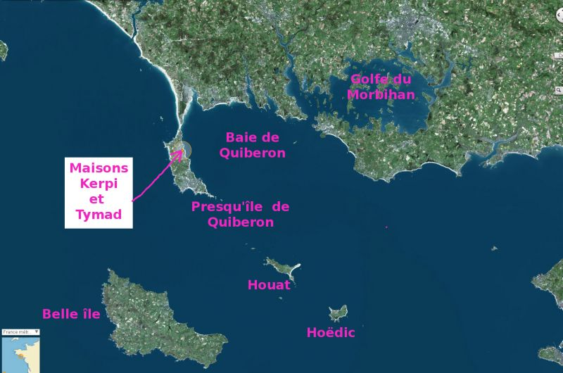 Carte Location Villa 81399 Saint Pierre Quiberon