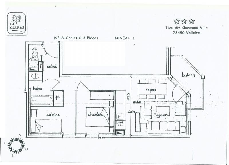 Plan de la location Location Appartement 82534 Valloire
