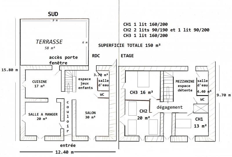 Plan de la location Location Maison 92943 Plombières les Bains