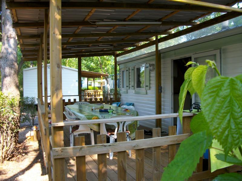 Vue de la terrasse Location Mobil-home 10050 Vias Plage