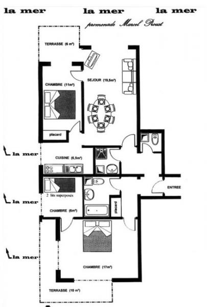 Plan de la location Location Appartement 10782 Cabourg