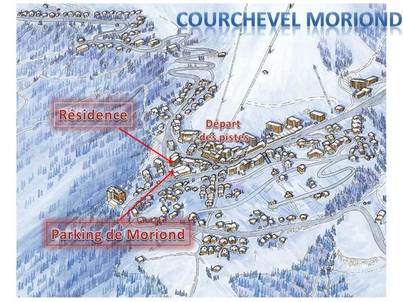 Plan de la location Location Appartement 1084 Courchevel