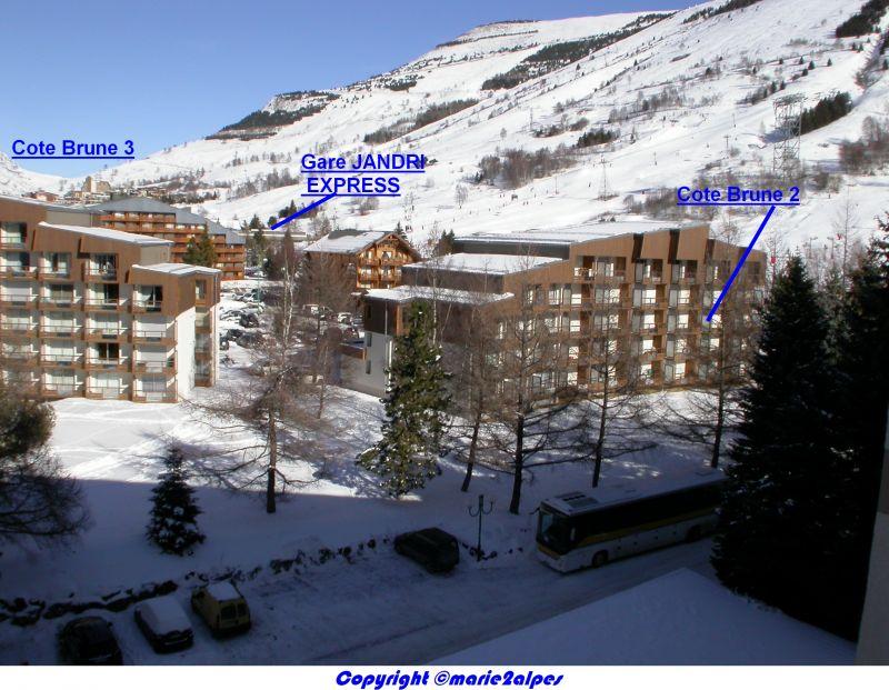 Vue extérieure de la location Location Appartement 1134 Les 2 Alpes
