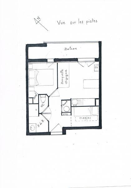 Plan de la location Location Appartement 1171 Les 2 Alpes