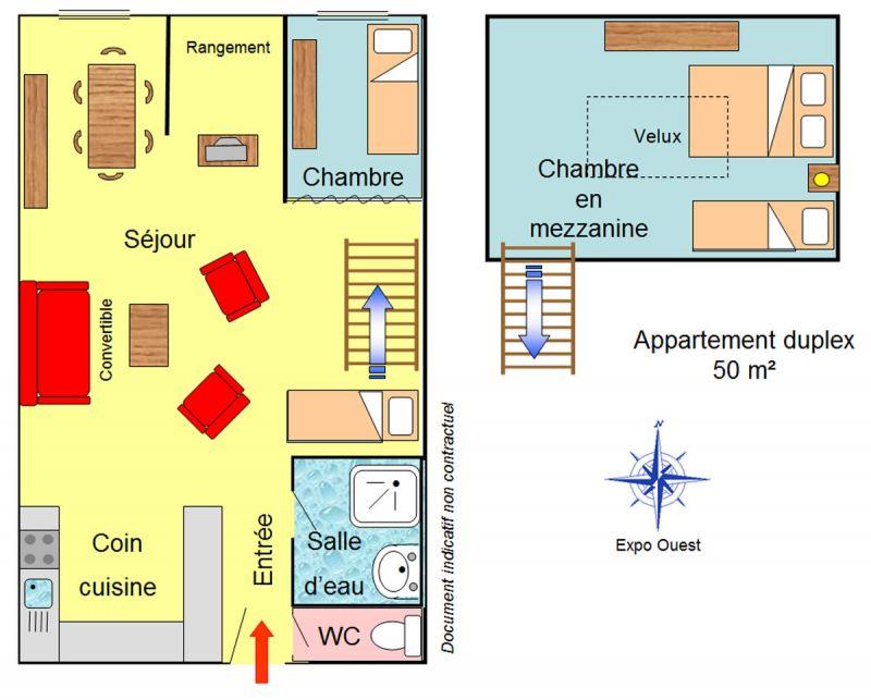 Plan de la location Location Appartement 1260 Les 2 Alpes