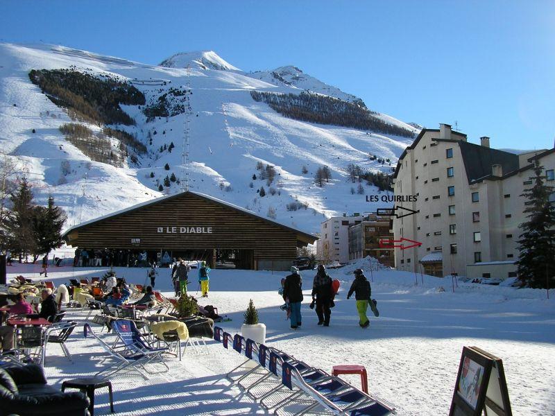 Vue extérieure de la location Location Studio 1270 Les 2 Alpes