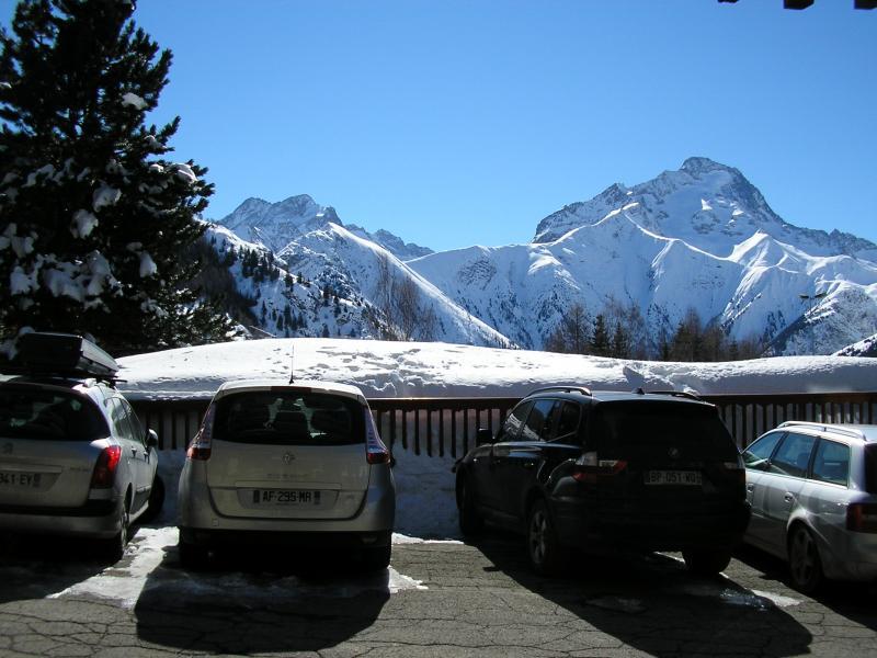 Vue de la terrasse Location Studio 1270 Les 2 Alpes