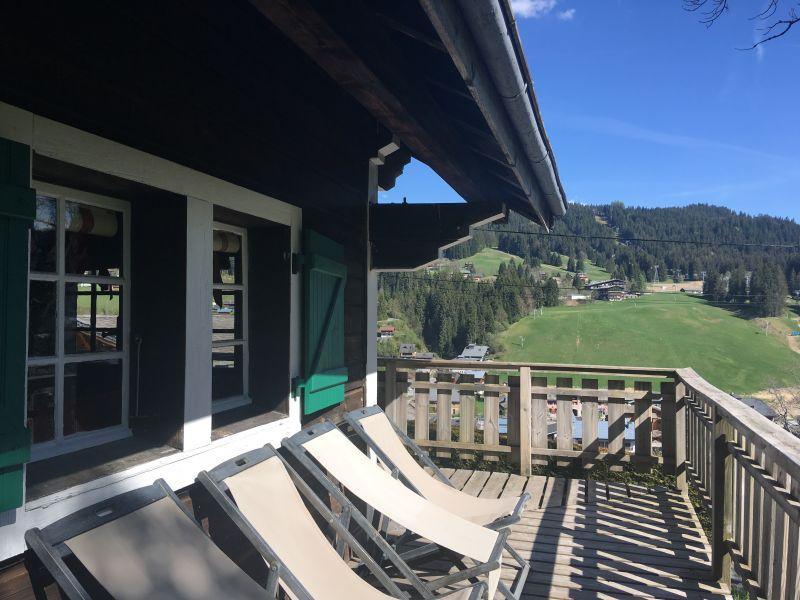 Vue du balcon Location Chalet 1350 Les Gets