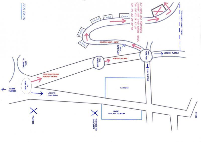 Plan de la location Location Chalet 1350 Les Gets