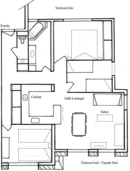 Plan de la location Location Appartement 1364 Le Grand Bornand