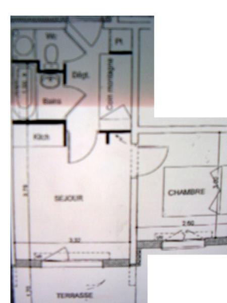 Plan de la location Location Appartement 14521 Drouzin Le Mont