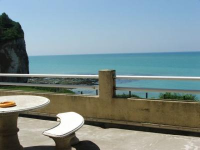 Vue de la terrasse Location Studio 14802 Etretat