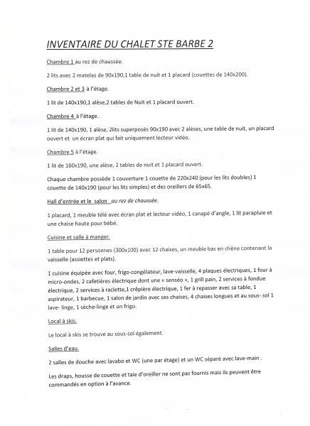 Plan de la location Location Chalet 14859 Praz de Lys Sommand