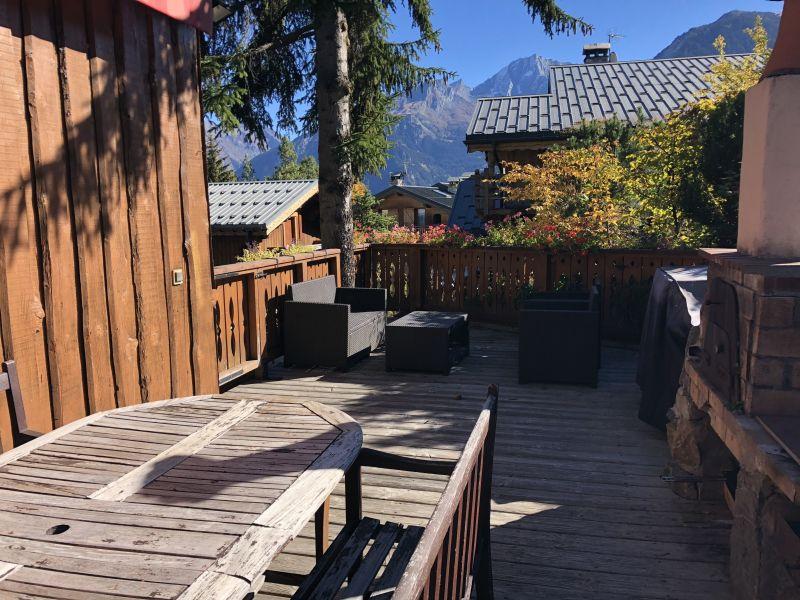 Vue de la terrasse Location Chalet 14951 Courchevel
