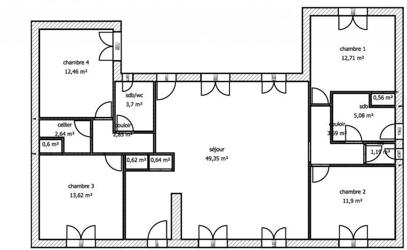 Plan de la location Location Maison 15077 Le Bois-Plage-en-Ré