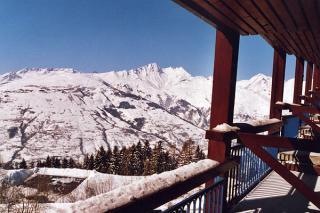 Vue du balcon Location Studio 155 Les Arcs
