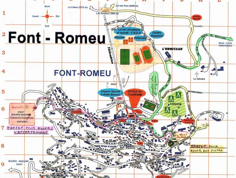 Carte Location Appartement 15696 Font Romeu