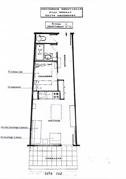 Plan de la location Location Appartement 15746 Piau Engaly
