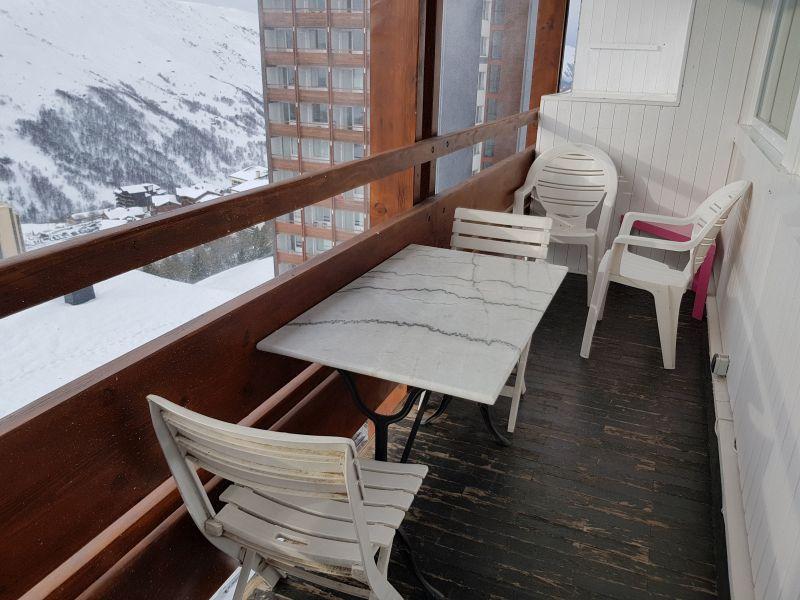 Vue du balcon Location Studio 1601 Les Menuires