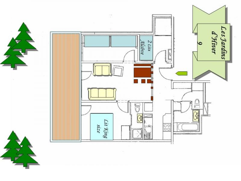 Plan de la location Location Appartement 16095 Valmorel