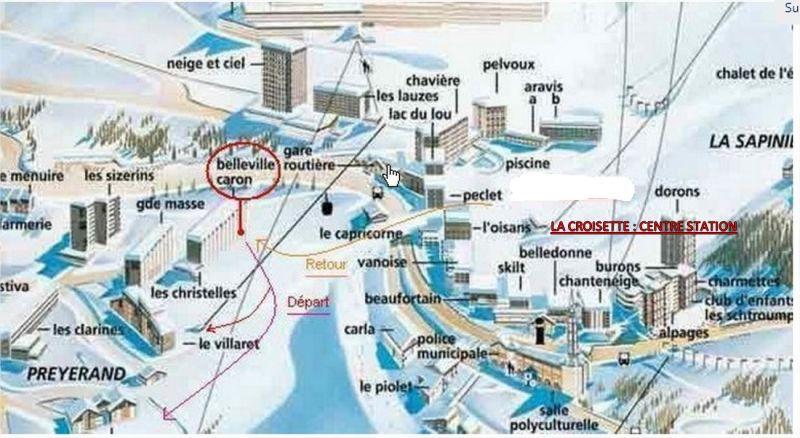 Plan de la location Location Studio 1615 Les Menuires