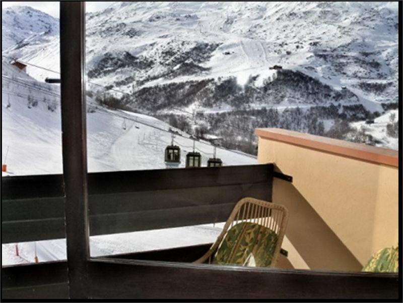 Vue du balcon Location Studio 1615 Les Menuires