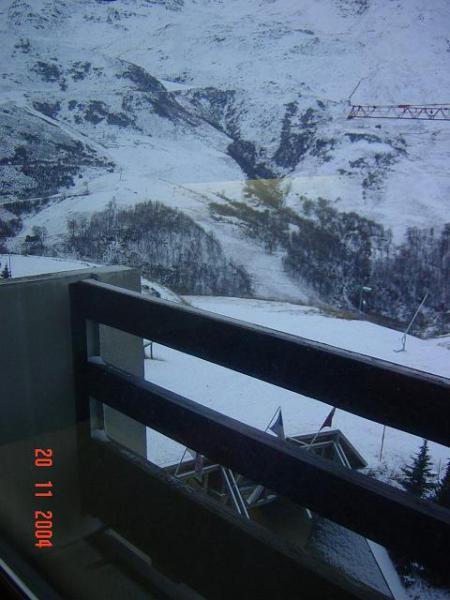 Vue du balcon Location Studio 1628 Les Menuires