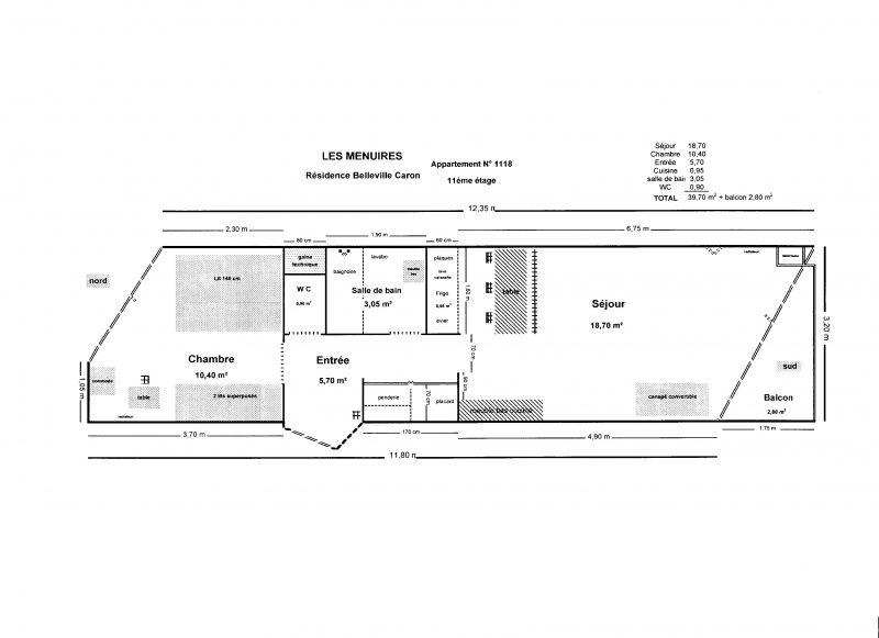 Plan de la location Location Appartement 1631 Les Menuires