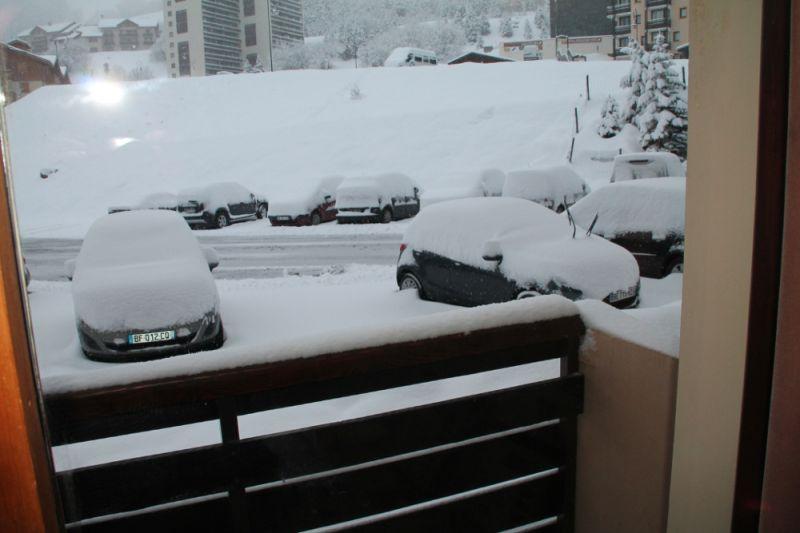 Vue du balcon Location Studio 1710 Les Menuires