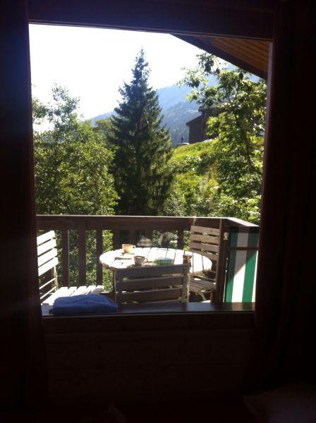 Vue de la terrasse Location Appartement 17117 Valmorel