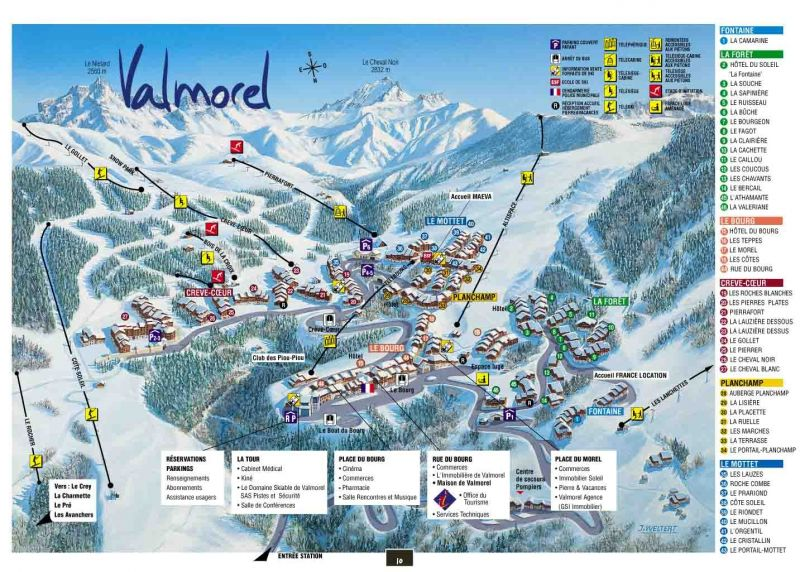 Plan de la location Location Appartement 17117 Valmorel