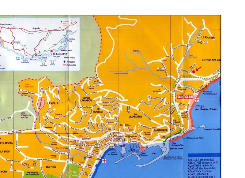 Carte Location Studio 17211 Le Lavandou