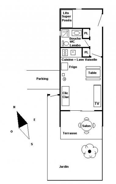 Plan de la location Location Studio 17211 Le Lavandou