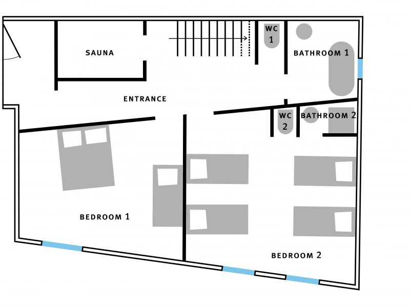 Plan de la location Location Chalet 1841 Méribel